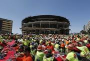 L'état de la construction du MGM Arena de... (Archives AP) - image 1.0