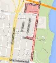 Les rues en rouge illustre la zone touchée... (Courtoisie, Ville de Gatineau) - image 1.0