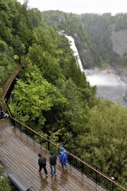 Le parc de la chute Montmorency, sous la... (Le Soleil, Patrice Laroche) - image 2.0