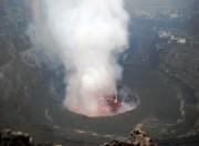 Depuis la crête du volcan Nyiragongo, autour du... (Photo PETER MARTELL, AFP) - image 1.0