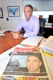 Le bureau de Mario Bédard est comme un... (Le Soleil, Jean-Marie Villeneuve) - image 1.0
