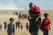 Des déplacés de la minorité yézidi, fuyant la... - image 1.0