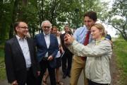Le chef libéral Justin Trudeau s'est prêté à... (Photo: François Gervais, Le Nouvelliste) - image 1.0