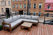 Sur le toit-terrasse, on a opté pour des... (Le Soleil, Erick Labbé) - image 2.0