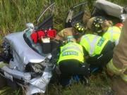 Les pompiers, assistés des paramédics, ont dû procéder... (Photo tirée de Twitter, Association des paramédics professionnels d'Ottawa) - image 1.0
