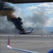 Un avion de British Airways a pris feu alors qu'il s'apprêtait à... (PHOTO AFP) - image 2.0