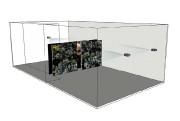 Émergence, 2015, installation vidéo, maquette de l'installation.... (PHOTO FOURNIE PAR DOMINIQUE BLAIN) - image 3.0