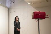 Magali Babin devant une des trois sacoches sonores... (PHOTO HUGO-SEBASTIEN AUBERT, LA PRESSE) - image 2.0