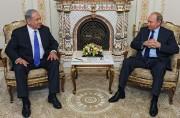 Benyamin Nétanyahou etVladimir Poutine lundi à Moscou.... (PHOTO AFP) - image 2.0