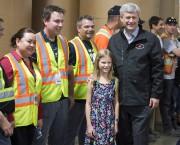 Stephen Harper faisait campagne à Winnipeg, mardi.... (La Presse Canadienne, Ryan Remiorz) - image 1.1