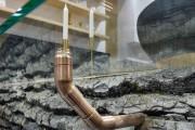 Une demi-bûche de tilleul évidée compose cette table... (Le Soleil, Jean-Marie Villeneuve) - image 5.0