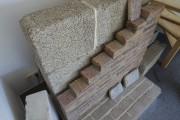 Les blocs de chanvre derrière un parement de... (Photo fournie par Bourassa Maillé Architectes) - image 1.0