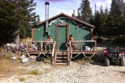 Le camp de lunch aménagé en plein coeur... (Photo Le Progrès-Dimanche, Roger Blackburn) - image 1.0