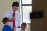 Justin Trudeau a voté dans la circonscription de... (PHOTO IVANOH DEMERS, LA PRESSE) - image 2.0