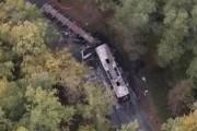 Vue aérienne (tirée d'une vidéo) du lieu de... (iTélé France via AP) - image 1.0