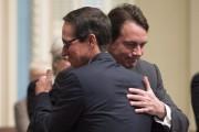 La froide accolade entre Pierre Karl Péladeau et... (Archives La Presse Canadienne) - image 5.0