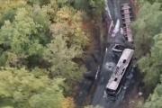 Vue aérienne de la catastrophe... (iTélé/AP) - image 2.0