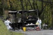 Les restes du camion impliqué dans l'accident.... (AP, Thibault Camus) - image 1.1