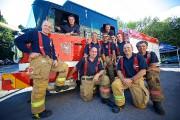 Des pompiers en vedette dans la série Alerte... (Photo André Pichette, La Presse) - image 1.0