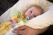 Nakiel, 3 mois, est atteint de l'amyotrophie spinale... (Stéphane Lessard) - image 2.0