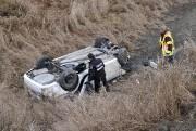 Un accident impliquant deux véhicules a fait deux... ((Photo Le Quotidien-Rocket Lavoie)) - image 1.1