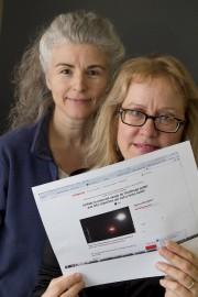 Toutes deux astronomes amateurs, les Sherbrookoises Christine Renaud... (Imacom, René Marquis) - image 2.0