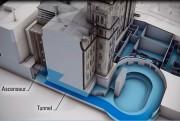 Image conceptuelle où l'on voit le tunnel menant... (Fournie par l'Assemblée nationale) - image 1.1