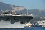 Le porte-avionsCharles-de-Gaullea quitté le port de Toulon mercredi.... (PHOTO AFP) - image 2.0