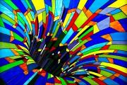 Lâcher prise, vitrail deNancy Mackay et Paul Marois... (Le Soleil) - image 9.0