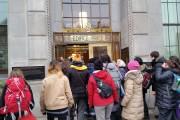 Des militants ont visité l'édifice Price mercredi avant-midi.... (Courtoisie) - image 1.0