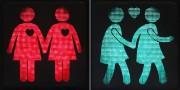 Les feux piétons de signalisation où des couples gais... (PHOTO DIETER NAGL, AFP) - image 2.0