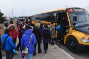Des autobus partaient de Trois-Rivières mercredi matin pour... (Photo: François Gervais Le Nouvelliste) - image 1.0