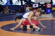 Geneviève Morrison lors de son combat de demi-finale... (Courtoisie, Lutte Canada) - image 11.0