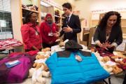 Justin Trudeau a participé aux préparatifs entourant l'arrivée... (La Presse Canadienne) - image 2.0