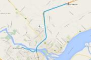 Il n'y a qu'une quinzaine de kilomètres qui... (Google Maps) - image 1.0