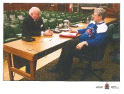 Mike Duffy et Stephen Harper, en 2012.... (PHOTO ARCHIVES LA PRESSE CANADIENNE) - image 1.0