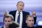 Au cours de sa conférence de presse, M.Poutine... (PHOTO NATALIA KOLESNIKOVA, AFP) - image 1.0