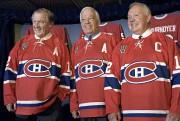 Dickie Moore, Bernard Geoffrion et Yvan Cournoyer, en... (Archives La Presse Canadienne, Paul Chiasson) - image 2.0