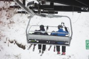 Malgré un temps maussade, certains skieurs n'ont pu... (Stéphane Lessard) - image 1.0