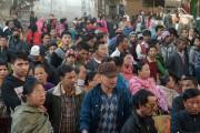 Plusieurs commerçants d'un marché d'Imphal sont regroupés dans... (PHOTO DIBYANGSHU SARKAR, AFP) - image 1.0