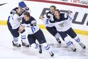 Les joueurs finlandais ont explosé de joie lorsque... (AFP, Markku Ulander) - image 2.0