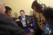 Le maire Maxime Pedneaud-Jobin était sur place pour... (Etienne Ranger, LeDroit) - image 2.0