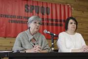 La présidente du SPUQO, Louise Briand, et la... (Patrick Woodbury, LeDroit) - image 2.0