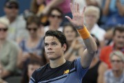 Milos Raonic l'a emporté 6-4 et 6-4 devant... (Associated Press) - image 1.0