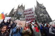 Une manifestation voulait dénoncé les agressions sexuelles et... (PHOTO ROBERT PFEIL, AFP) - image 1.1