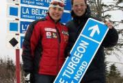 Mélanie Turgeon et Jean-Luc Brassard lors de l'innauguration... (Photo Mont-Sainte-Anne) - image 1.0
