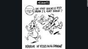 Le dessin original de Charlie Hebdo faisait référence... (VIA LA PRESSE CANADIENNE) - image 1.0