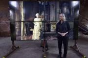 Annie Leibovitz devant un portrait de la reine... (AFP, Justin Tallis) - image 2.0