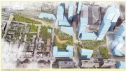 Le parc Ville-Marie dans son environnement.... (IMAGE FOURNIE PAR LA VILLE DE MONTRÉAL) - image 2.0