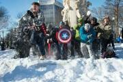 Une bataille de boules de neige a été... (PHOTO AFP) - image 2.0